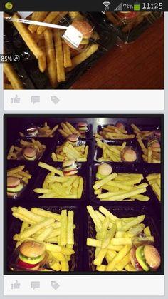 Friet chips en hamburger snoepje