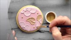 How To Paint With Luster Dust On Brush Embroidered Sugar Cookies ...