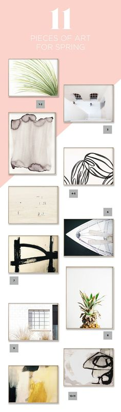 Easy Spring Home Decor Ideas - 11 pieces of artwork to update your home decor - House Of Hipsters