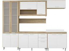 Cozinha Compacta Multimóveis Toscana com Balcão - 11 Portas 3 Gavetas com as melhores condições você encontra no Magazine Tonyroma. Confira!
