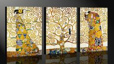 El árbol de la vida-Tríptico, Gustav Klimt Gustav Klimt, My House, Fine Art, Pictures, Painting, Inspiration, Home Decor, Picasso, Artists