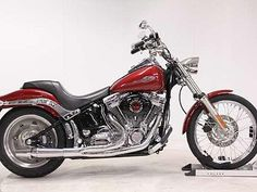 Fire red Harley