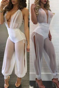 WSPLYSPJY Women Long Sleeve Fashion Hollow Out Riding Nightclubs Short Romper