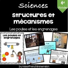 Sciences - Les poulies et les engrenages by MissFrenchImmersion | Teachers Pay Teachers Pulleys And Gears, Science, Assessment, Curriculum, The Unit, Teaching, Activities, Day, Resume