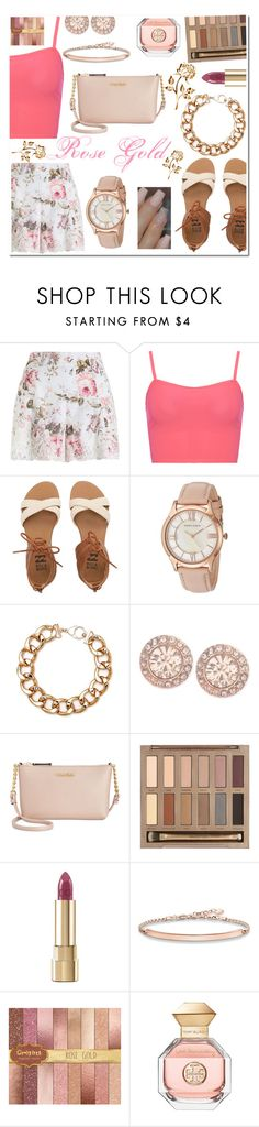 """Rose gold contest"" by mk19972000 ❤ liked on Polyvore featuring Zimmermann, WearAll, Billabong, Anne Klein, Black, Givenchy, Calvin Klein, Urban Decay, Dolce&Gabbana and Thomas Sabo"