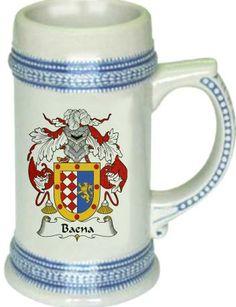 Baena Coat of Arms / Family Crest stein mug