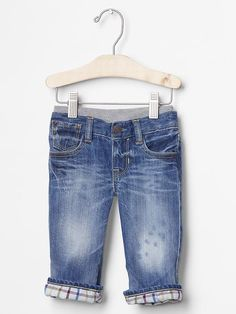 Lined pull-on original fit jeans