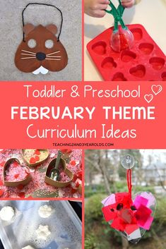 Looking for ideas for your February preschool themes? This resource is filled with activities and free printables to help you plan the entire month. Can be adapted for toddlers, too! Groundhog Day Activities, Preschool Learning Activities, Preschool Themes, Preschool Activities, Preschool Printables, Lesson Plans For Toddlers, Preschool Lesson Plans, Toddler Preschool, Winter Songs For Preschool