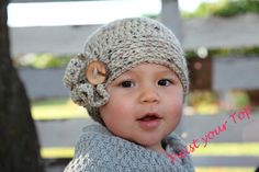 Crochet Beanie with Mini Ruffle by Twistyourtop on Etsy
