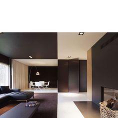 :: PUUR interieurarchitecten - woning :: Contemporary Architecture, Interior Architecture, Living Spaces, Living Room, Serviced Apartments, Commercial Interiors, Interior Inspiration, Color Blocking, Minimalism