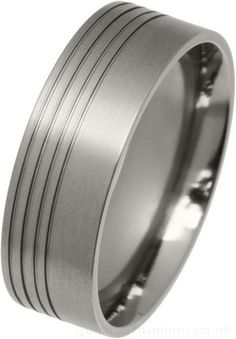 Ti2 Low Profile 8mm Grooved Titanium Ring