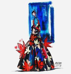 Illustration.Files: Delpozo Pre-Fall 2016 Fashion Illustration by Anya Dee