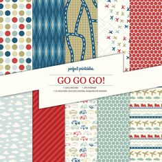 Go+Go+Go+Digital+Scrapbook+Paper++Boys++Cars++by+PerfectPrintables,+$3.00