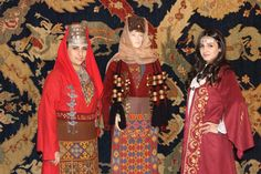 Traditional Armenian costumes -garments by Teryan Cultural Center at Megerian Carpet Company.