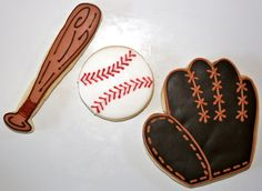 These baseball cookies are great for boys or girls who love baseball. Team them up with your favorite college team and have a mixed dozen. Fancy Cookies, Cut Out Cookies, Brownie Cookies, Custom Cookies, Softball Cookies, Baseball Party, Cookie Decorating, Cookie Dough, Pretty Nails