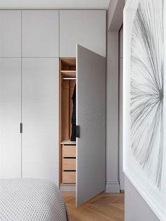 Un armario moderno y de líneas simples