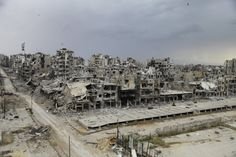 Making the rounds online this week: this footage shot by a camera-equipped drone of the Syrian city of Homs. After 5 years of civil war, the city is largely reduced to abandoned rubble.
