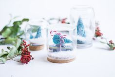 Bolas de cristal nieve navidad diy : via La Chimenea de las Hadas