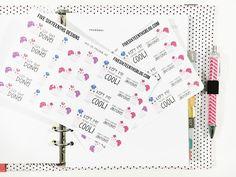 five sixteenths blog: Free Planner Stickers // Happy Unicorn Stickers
