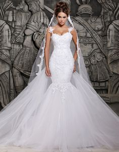 Jah!!! LOVE--LYYY!!! --- Classic Tulle Ball Gown with Crystal Beaded* Alencon Lace Appliques and Wide Scalloped Hemline