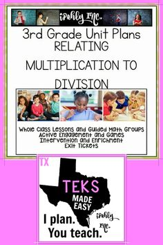 Spend less time prepping for your 3rd grade #math #lessonplans and more time teaching! Here is a priceless bundle that includes stations, games, activities, teacher tools and everything you need for 7 days of math lessons! #3rdgrade #classroom #school #multiplication #division For more resources to simplify your teacher life, visit ipohlyinc.com!