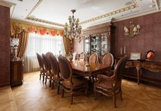 classic and traditional dining room decorating ideas, wooden furniture and…