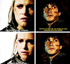 when they both think about each other at the same time bellarke bellamy clarke