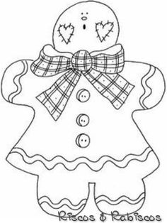 Mormon Share Gingerbread Girl White image Gingerbread man and