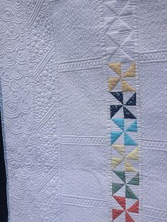 Modern Pinwheels - love the quilting on this one
