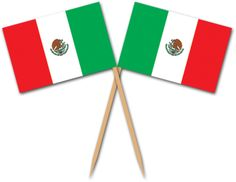 Celebrate Cinco de Mayo or any other Mexican holiday in style these Mexican Flag Picks. Each pick is 2.5 inches tall and has a small Mexican flag affixed to the top. Each package contains 50 picks.