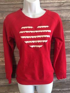 GYMBOREE Girl's Sweater Size Large 10 to 12 Long Sleeve Red #Gymboree #ebay