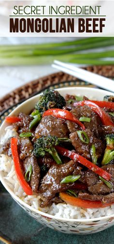 You will NEVER need to order takeout Mongolian Beef again with this stir fry of tender beef saturated in the most-lick-the-plate delicious multidimensional sauce ever all in a quick and easy stir fry! Is it too presumptuous of me to say this will be yo Meat Recipes, Asian Recipes, Cooking Recipes, Healthy Recipes, Recipies, Asian Foods, Beef Dishes, Food Dishes, Tandori Chicken