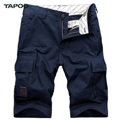 Men Shorts Plus Size 42 Loose New 2017 pantalon corto homb Army Military Tapoo Denim Pockets Casual Half Design boardshort #Affiliate