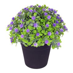 VGIA Small Artificial Plants for Home Decor Fake Flowers in Pot Lovely Decoration (Purple) -- You can get more details by clicking on the image-affiliate link. #DecorativeAccessories