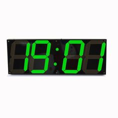 Amazon.com: T Tocas 18-inch Jumbo Digital Green LED Wall Clocks w/ Thermometer, Calendar, Snooze, Remote Controller Black Background: Home & Kitchen