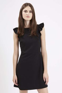 Frill Sleeve A-Line Dress - Topshop