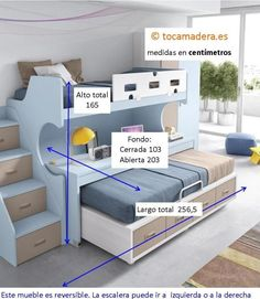 Fixed bunk with removable table - Interior Design Bedroom Couch, Bedroom Bed Design, Home Room Design, Kids Bedroom Furniture, Small Room Bedroom, Kids Room Design, Baby Bedroom, Bedroom Decor, Modern Furniture