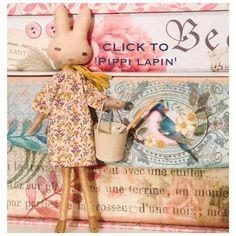 white bunny rabbit handmade doll by verity hope