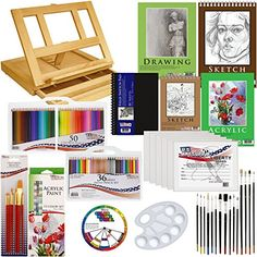 """""""- The easel incline adjusts to four positions and will accommodate a canvas up to 11 x 14"""""""" - An..."""""""""""""""