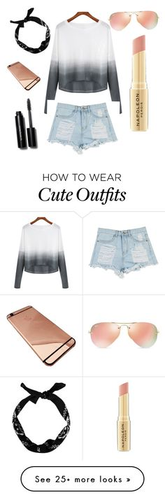 """""""Cute outfit to wear for anything"""" by courtneyfitzgerald27 on Polyvore featuring Ray-Ban, Napoleon Perdis, Bobbi Brown Cosmetics, women's clothing, women, female, woman, misses and juniors"""