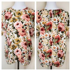 Vintage 80s Romantic Floral Blouse by MothersGardenVintage on Etsy