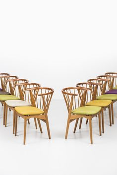 Helge Sibast dining chairs model nr 6 by Sibast at Studio Schalling