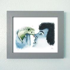 "Framed ""Detective Hedgehog"" Print | Benedict Cumberbatch | Johnlock Art"