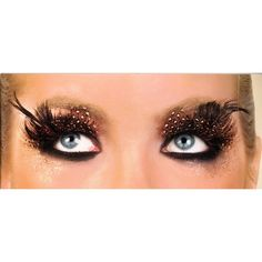 Gasp!!! Feather eyelashes!