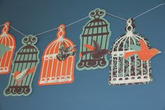 Birds on a wire - banner, via Etsy