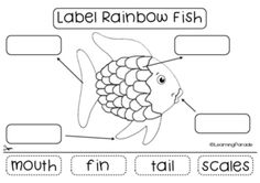 Free Printable For The Rainbow Fish By Marcus Pfister Kindergarten Literacy Cut And Paste Activity