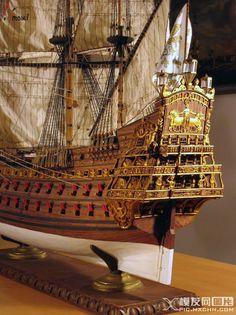 1:90 法国 战列舰 索莱尔 木质模型 / Saved by Stephen Lok Soleil Royal