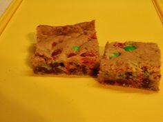 M&M Cookie Bars #M&Ms #cookies #bars