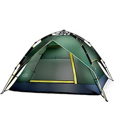 4 colors Outdoor Camping tent Multi Rainproof Tent With Carry Bag Green >>> See this great product.