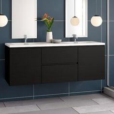 Elan x Single Sliding Frameless Shower Door with RollerDisk™ Technology Single Bathroom Vanity, Modern Bathroom, Bathroom Vanities, Bathroom Ideas, Master Bathrooms, Bathroom Interior, Vanity Set With Mirror, Vanity Sink, Ceramic Undermount Sink